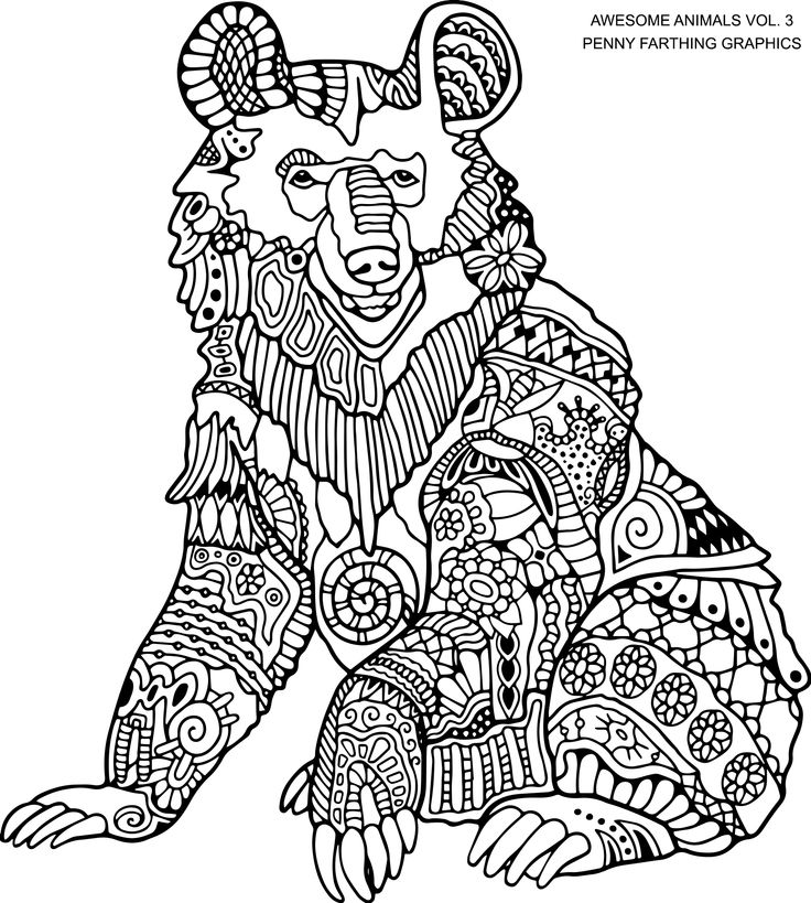 Coloring Book Bear 4336 Best COLORING 3 Images On Pinterest