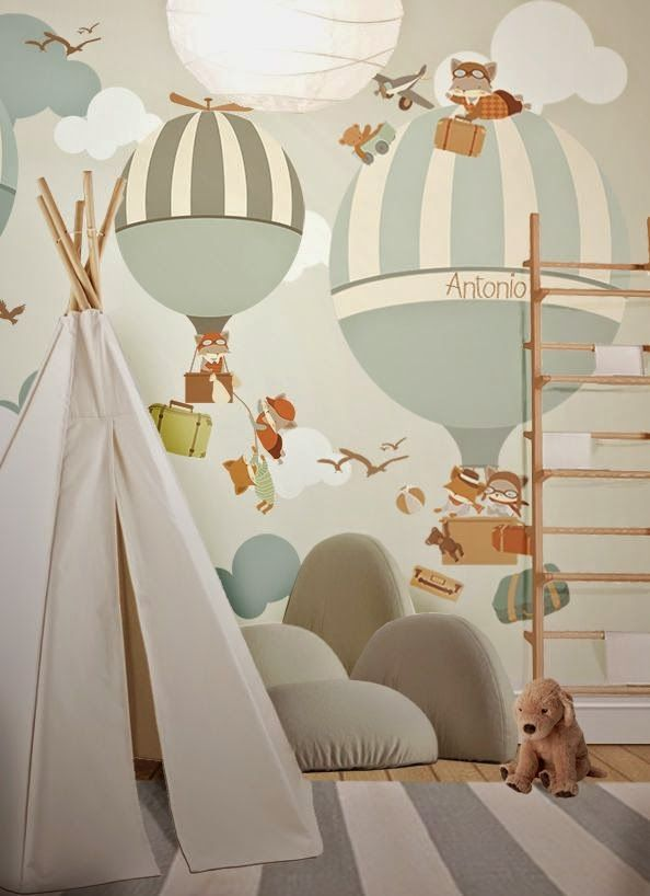 Hot Air Balloons In The Kid S Room Kids Room Wallpaper