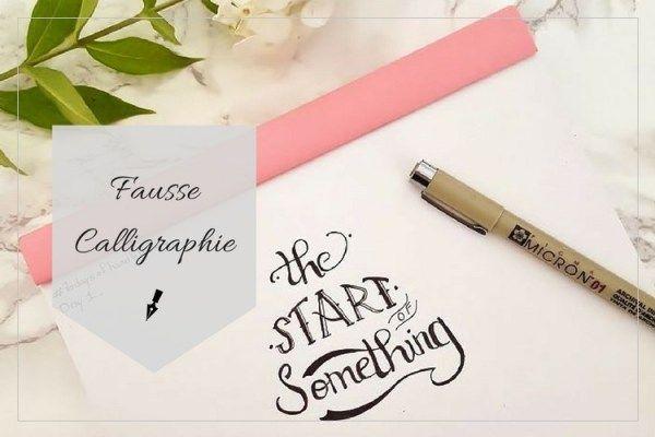 Journaling: Comment créer une fausse calligraphie