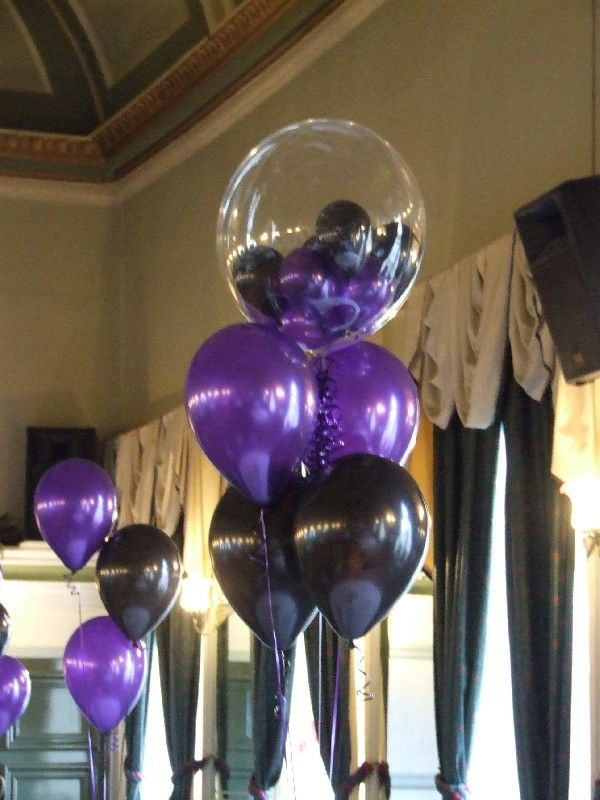 black and purple balloons - Google Search