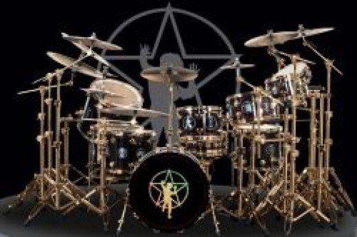 Neil Peart's drum kit