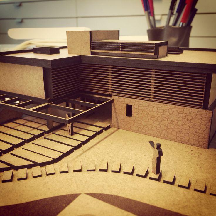 Laser Cut Architecture Model by Plano-Espaço Arquitetura, brazilian Architecture Studio.