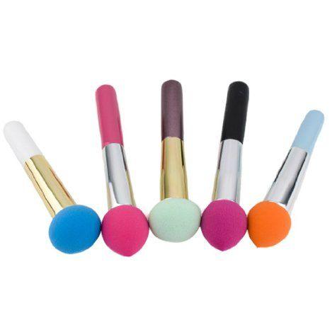 1 x Kosmetik Make-up Pinsel flüssige Creme Cremegrundlage Schwamm Pinsel Bürste