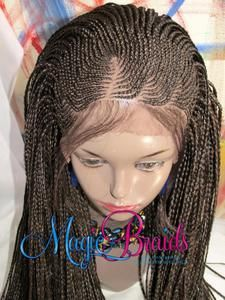 Hand Braided Lace Front WIG Micro Braids Cornrow 18Long