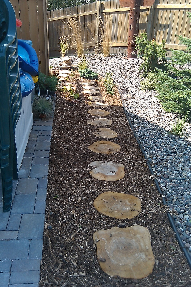Wood Stepping Stones 22 best stonewood path