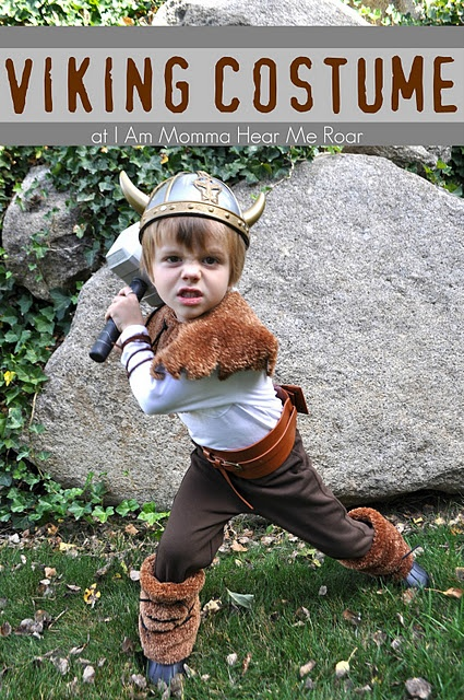 "DIY Viking Costume - laughed when I saw what the ""fur"" was made out of.  Very creative."
