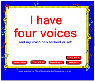 Links to awesome websites & everything!!!  :)  Four Voices Kindergarten lesson for the SMARTBoard