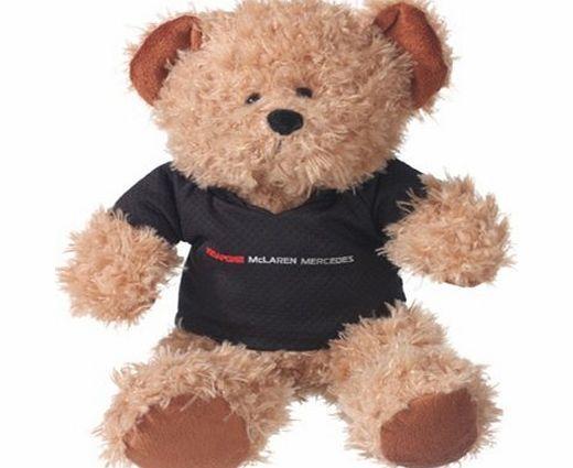McLaren Vodafone McLaren Mercedes Kids Teddy Bear Formula One F1 Fan Gift Official team teddy bear wearing a black t-shirt featuring the team logo (Barcode EAN = 5060082321184). http://www.comparestoreprices.co.uk/formula-1-merchandise/mclaren-vodafone-mclaren-mercedes-kids-teddy-bear-formula-one-f1-fan-gift.asp