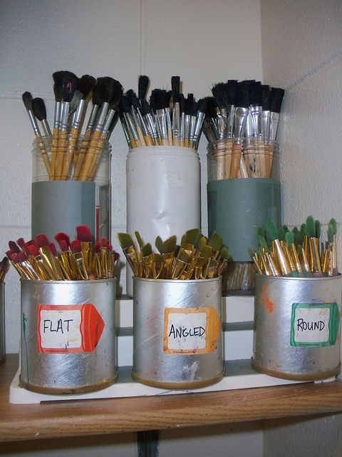 There is rarely a dirty brush and rarely one put in the wrong spot! - I really need to do this for my sink area.