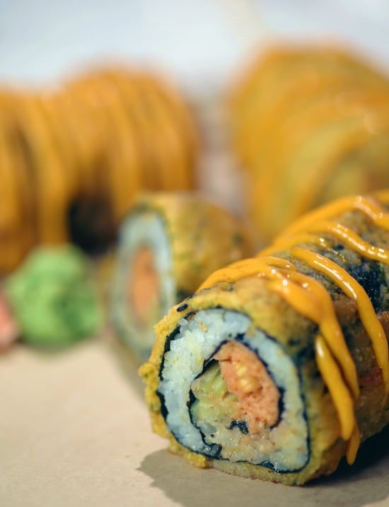 Pin for Later: Give a Spicy Tuna Roll the State Fair (aka Deep-Fried) Treatment