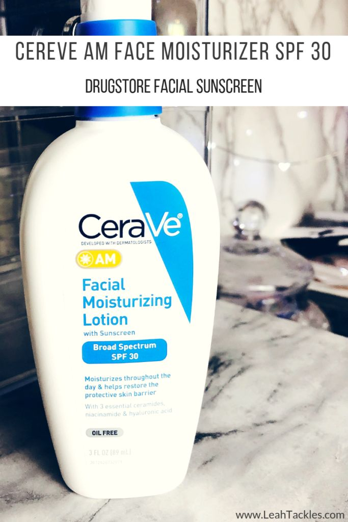 CeraVe AM Face Moisturizer with Sunscreen SPF 30 Review