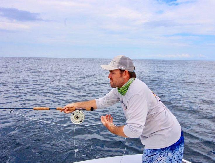 Fly fishing for Mahi Mahi Aboard GOOD DAY in Quepos Costa Rica