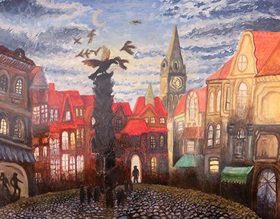 "Check out new work on my @Behance portfolio: ""Peinture - inspirée ""EVENING'S FLIGHT"" de Vladimir Kush"" http://be.net/gallery/60667845/Peinture-inspire-EVENINGS-FLIGHT-de-Vladimir-Kush"