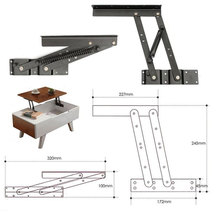 1Pair Lift Up Top Coffee Table Lifting Frame Mecha…