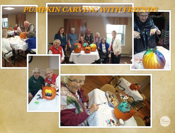 Some of the residents got together to make a fun night of pumpkin carving in prep for all the ghost and goblins that would be in to visit. 🎃