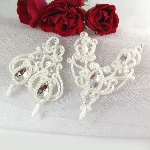 Komplet biżuterii ślubnej sutasz www.pillowdesign.pl