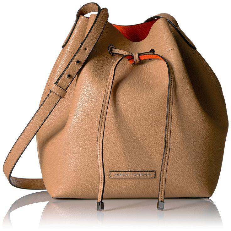 A X Armani Exchange Petite Faux Leather Bucket Bag