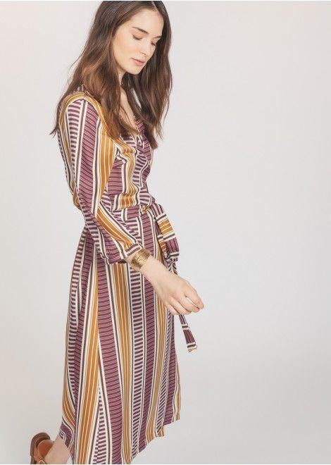 Long geometric print dress – Dresses