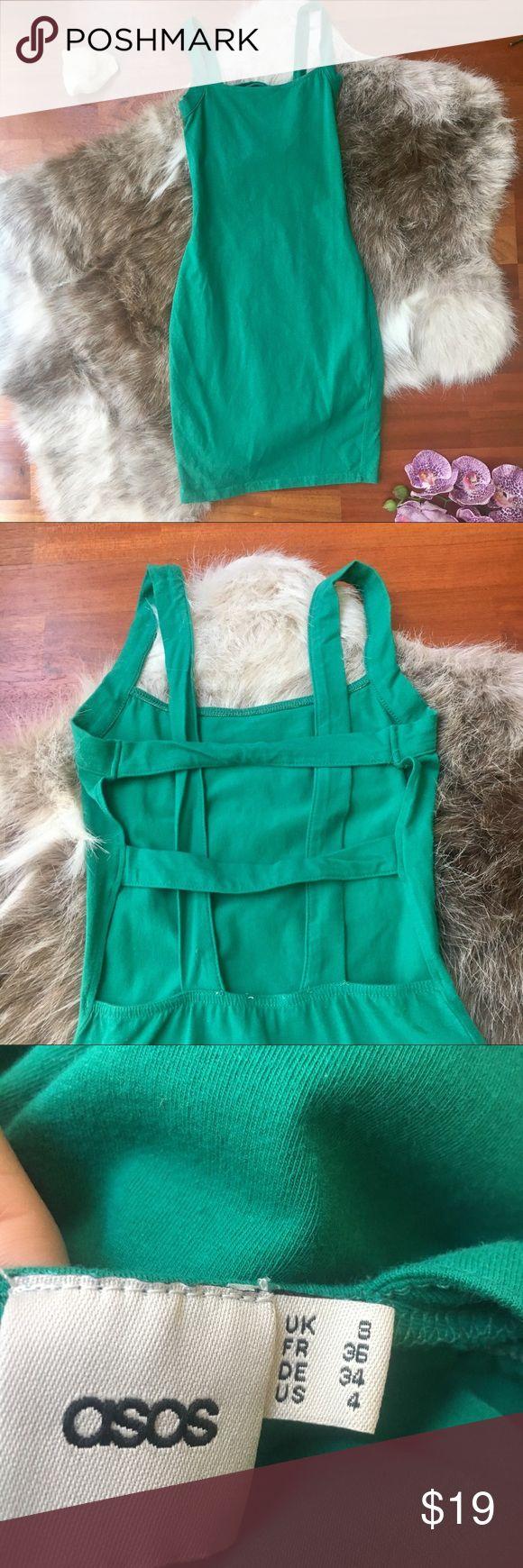 ASOS emerald green bodycon dress - NWOT - 4 Super cute strappy back.   Never worn! ASOS Dresses Mini