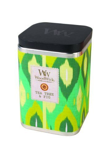 WoodWick Tea Tree and Fig IKAT Candle by WoodWick®. $14.99. Our highly fragranced jar candles feature a natural wooden wick to create the soothing sound of a crackling fire. Try out the exotic and beautiful ikat trend, beautiful ancient weaving technique has been made new again in fresh beautiful patterns. Our premium woodwick candle in a beautiful blend of color and fragrance. Our premium woodwick® candle in a beautiful blend of color and fragrance. Italian bergamot golde...