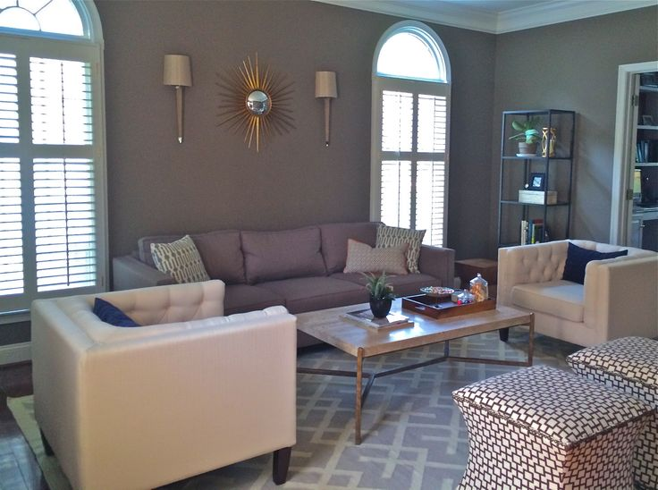 Benjamin Moore Sparrow Modern Living Room Furniture Etc By Mcubed Interiors Accessorized