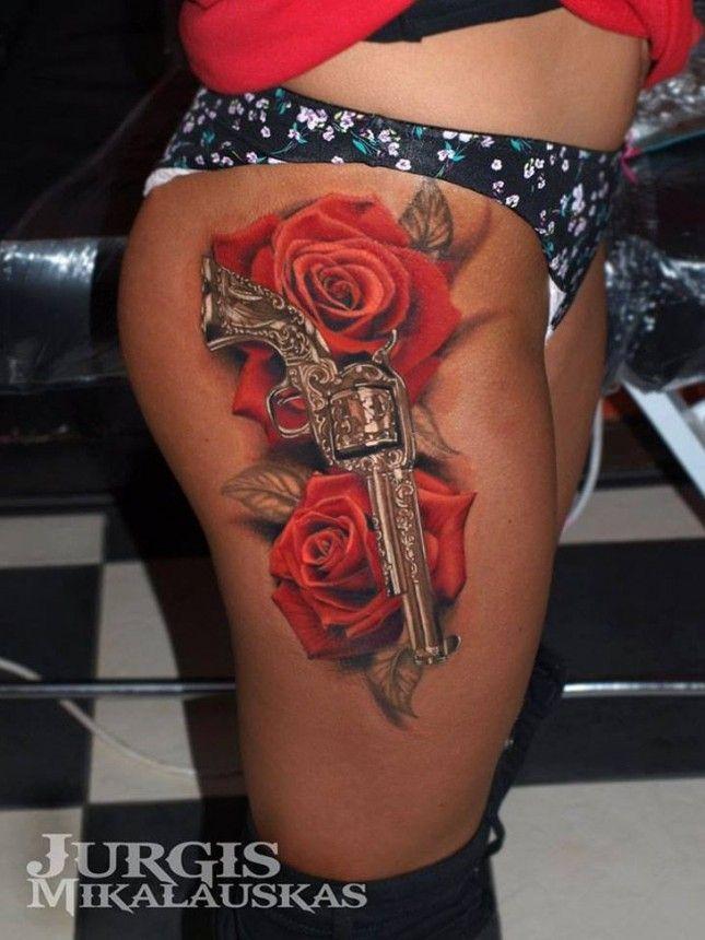 Best Gun Tattoos Design For Women