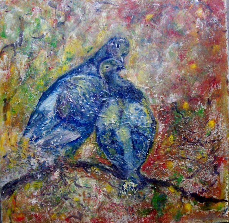 Животные ручной работы. Ярмарка Мастеров - ручная работа голуби. Handmade.