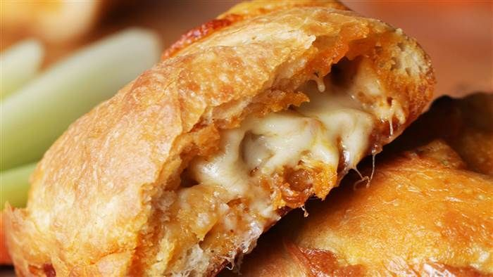 If you like wings, you're going to love these Buffalo chicken calzones