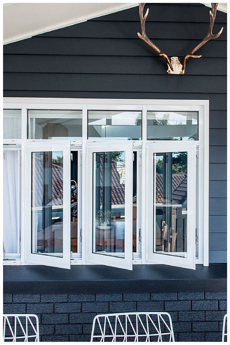 Wideline Casement windows in white. www.wideline.com.au