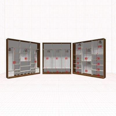 Шкафы Гардеробные 3 секции