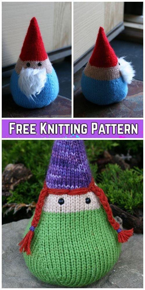 Knit Santa Gnome Free Knitting Patterns | Scandinavian | Pinterest ...