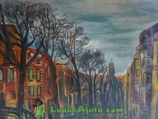 Lukisan Kota Eropa Karya S.Kerton 1978