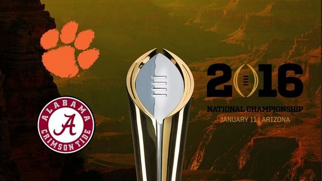 Clemson vs Alabama championship game on Jan. 11 at the University of Phoenix Stadium in Glendale, Ariz. The 8:30 p.m. game will be telecast by ESPN and Live stream by WatchESPN. http://clemsonvsalabama.com/live-stream