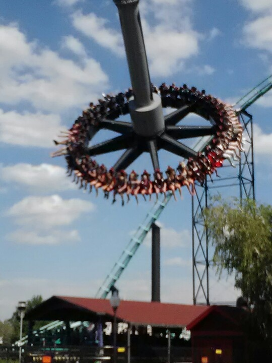 Kennywood's Black Widow and it is one of the scariest rides I've ever been on