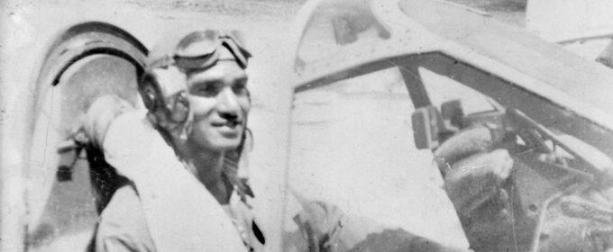 Indigenous Australians at War (AIATSIS) website.  This photograph shows Sgt. Leonard Waters of the 78 Squadron, RAAF, in the cockpit of a P40N Kittyhawk, possibly 'Black Magic', 1944-5  Australian War Memorial: P01659.001