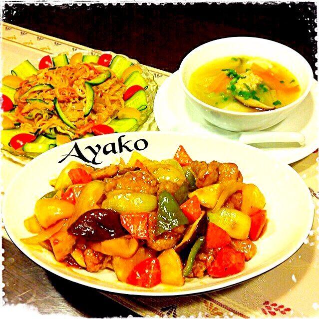 ・酢豚 ・白菜と帆立のとろ〜りスープ ・中華クラゲのサラダ 生姜ととろみスープで、からだが温まります♪優しい味にピリっと生姜がアクセントで、美味しいです - 155件のもぐもぐ - 11/23の夕食♪ by ayako1015