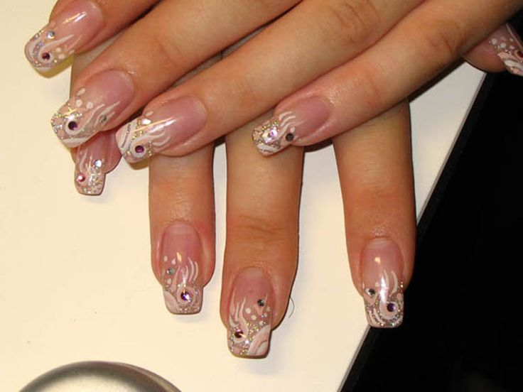Дизайн акриловый ногтей