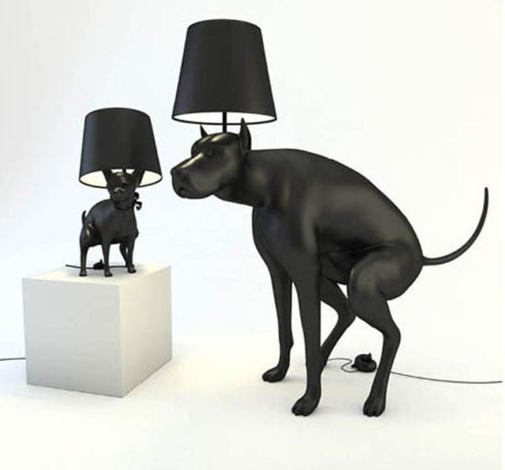 Double Pooping Dog Lamps from UK Artist Whatshisname