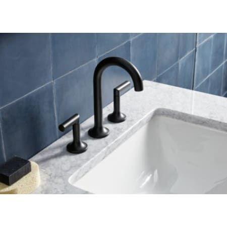 Matte Black Bathroom Faucet Brizo 65375LF-ECO
