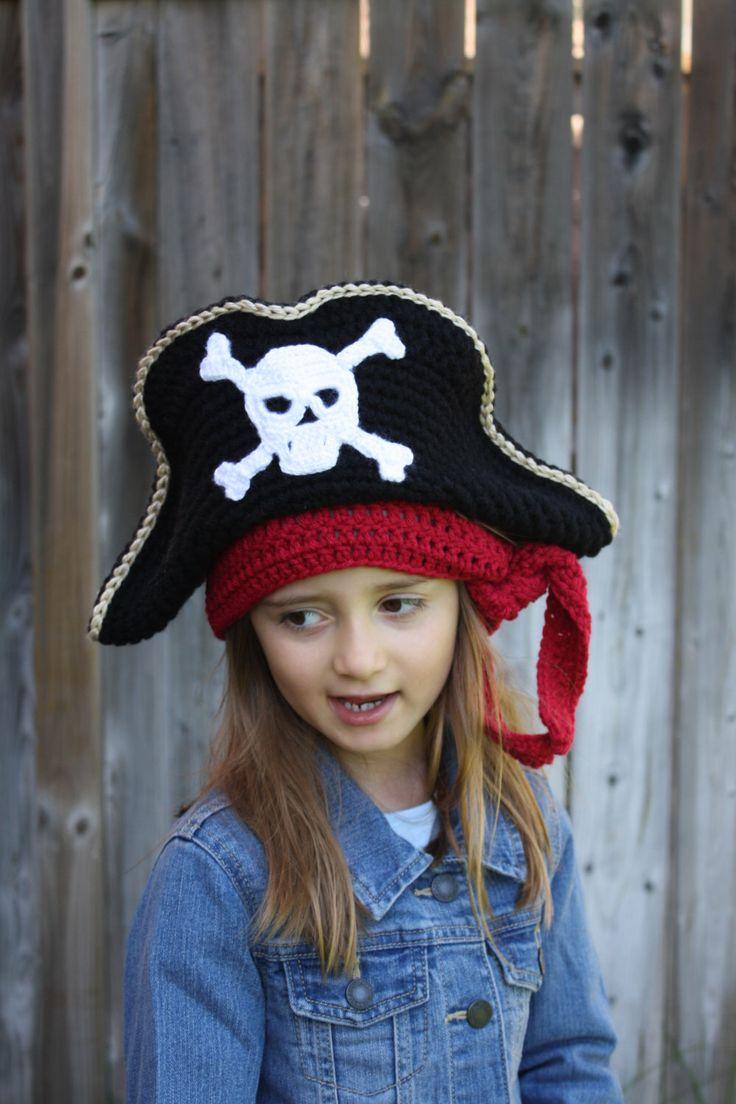 Pirate Hat,Crochet Pirate Hat,Crochet Pirate Hat Costume,Crochet Costume, Kids Pirate hat, Adult Pirate Hat, Adult Crochet Pirate Hat by KetisCrochet on Etsy https://www.etsy.com/listing/231816552/pirate-hatcrochet-pirate-hatcrochet