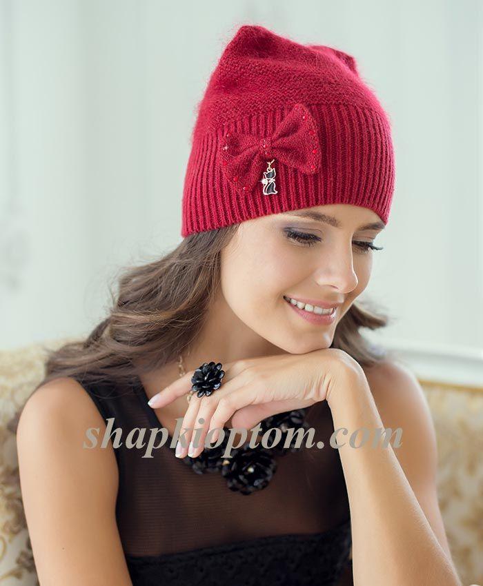 вязанные шапки оптом вязание Pinterest