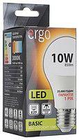 Светодиодная лампа ERGO, 10W, 3000K, тёплого свечения, цоколь - Е27, 1 год гарантии!