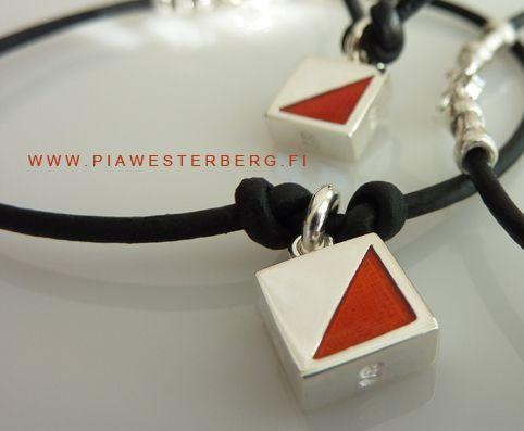 Orienteering jewelry in silver.  www.piawesterbergwebshop.com