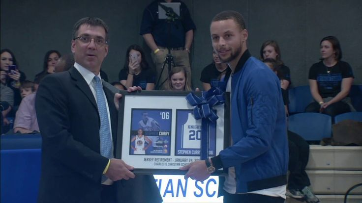 WATCH: Stephen Curry Returns To High School, Gets Jersey Retired