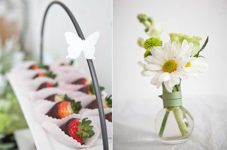 green & white Party Themes  | Pink lemonade with green and white striped paper straws adorned with a ...
