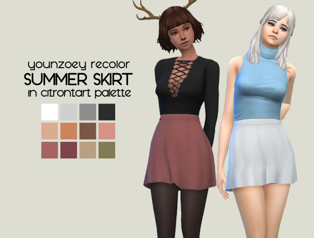 MESH: [YOUNZOEY] HELLO SUMMER - SKIRT 01 (AF) RECOLOUR: PERSI
