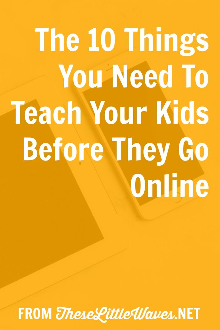There are so many reasons why we need safety rules for using the Internet! SO. This new terrain is largely unmonitored and untaught so we have to teach our kids and students what they need to know to be safe online as well as wise and kind. They need us to teach them these guidelines and boundaries just like we taught them how to walk, write their names, ride their bikes, and drive. This is a great resource with 10 things parents and teachers need to teach kids before they go online. Bonus…