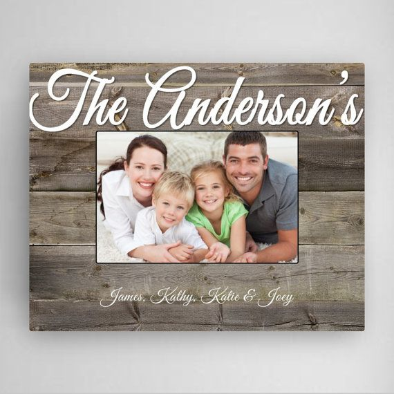 Personalized Family Frame Custom Frame Rustic by CreativeByClair