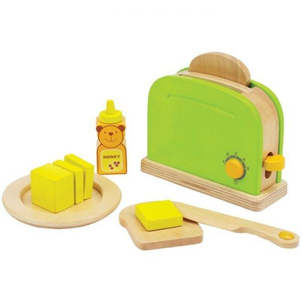 Making toast is easy with this double-slice toaster. A pat of butter and a dab of honey to finish the job. Imagination & Creativity: Encourages imitative and imaginary play; promotes fantasy story telling, role playing, and creativity.