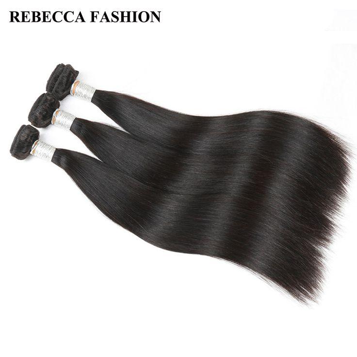 Rebecca Remy Peruvian Straight Hair 3 Bundles Unprocessed Human Hair Bundles 300g Hair Extensions Salon Longest Hair PP 10%